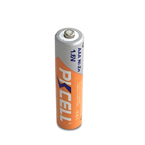 AAA-size 1.6 volt Rechargeable Nickel-Zinc Batteries Rated at 900mWh
