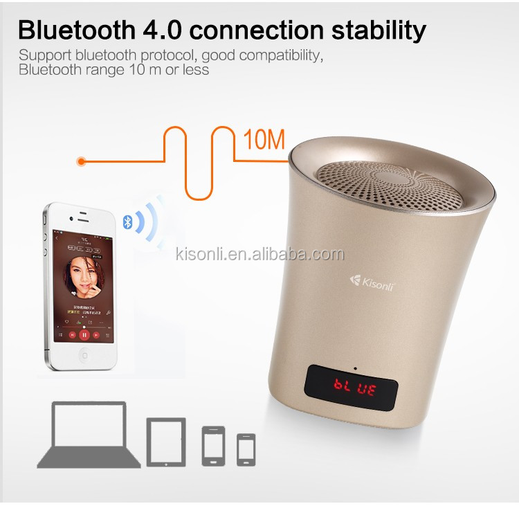 Colorful Super Woofer Speaker Mini Wireless Bluetooth Speaker with clock