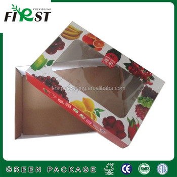 Recyclable Corrugated Paper Box with PVC Window/Printing paper corrugated cardboard box with clear window