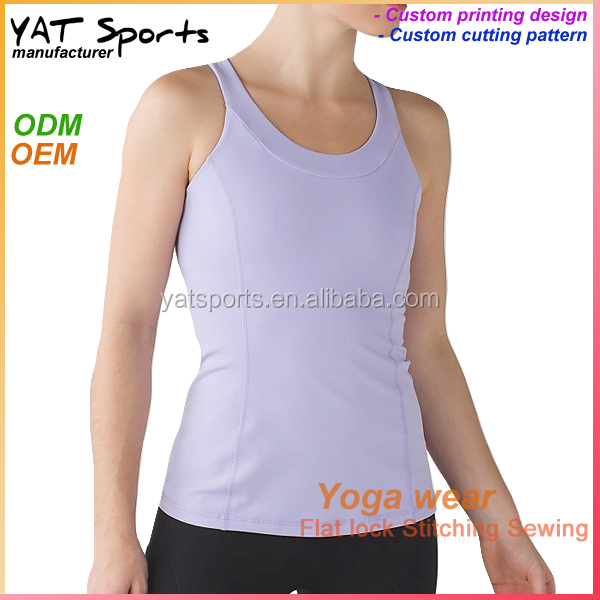 7e565fb3b76e6f Activewear sports vest Girl Y back 92 nylon 8 spandex yoga singlets tank  tops