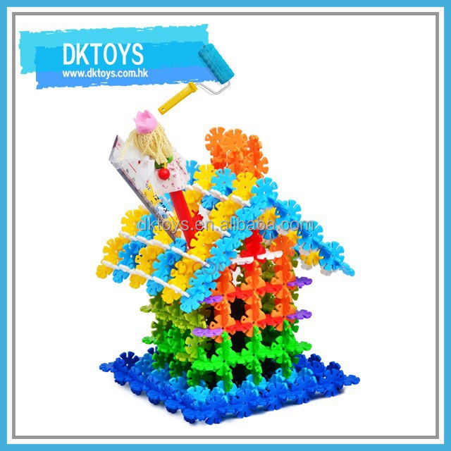 180 PCS Plastic Multicolor Snowflake Building Blocks Creative Toys 3D Puzzle
