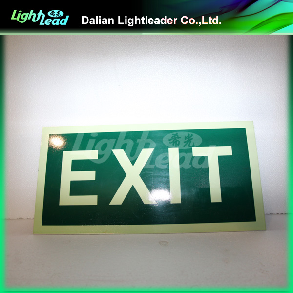 Glow in the dark self luminous exit signs
