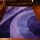 new design polyester viscose silk shaggy carpet rug