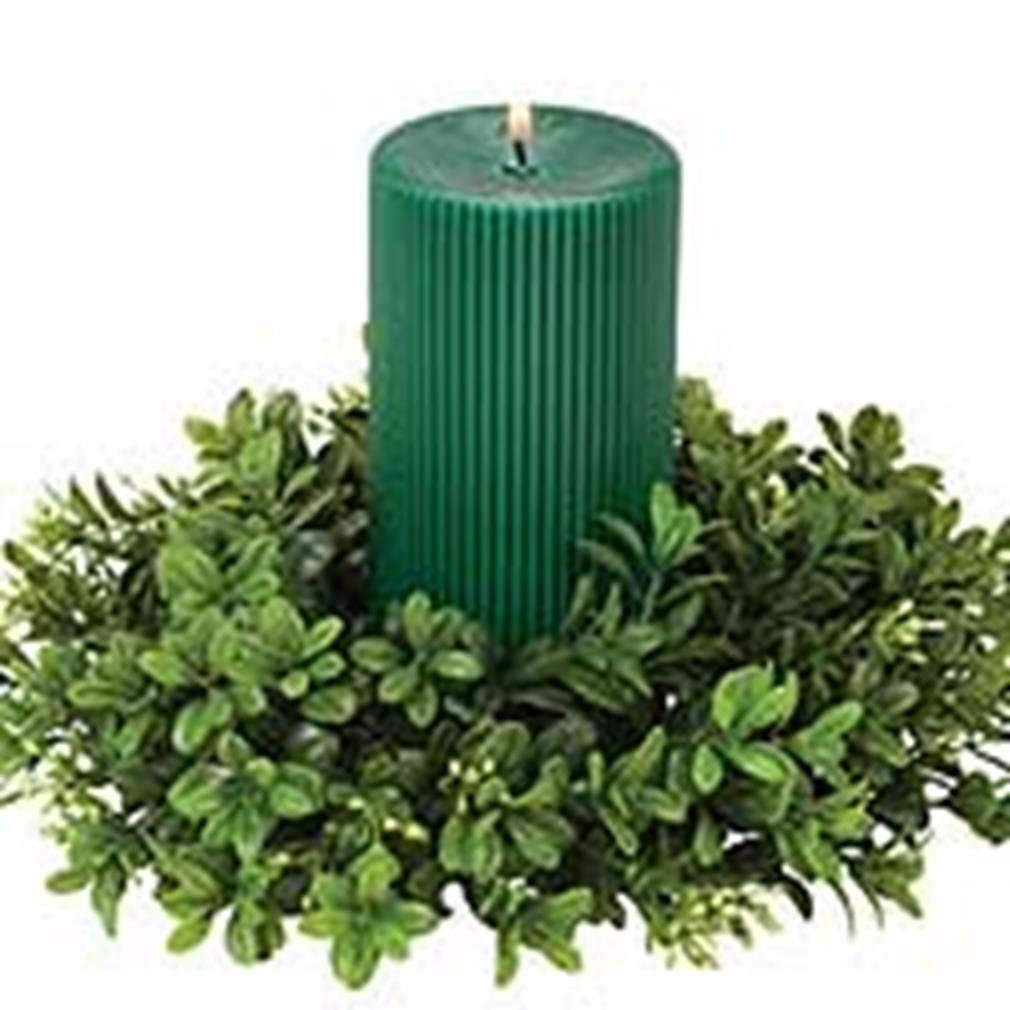 get quotations boxwood candle rings 45 inch - Decorative Christmas Candle Rings