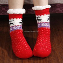 2017 Winter Christimas Women Sleep Warm Socks Indoor Fleece Socks