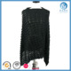 lady hollow out style knitted 100% acrylic winter scarf poncho