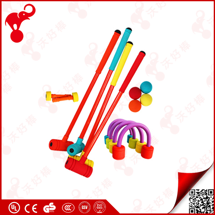 kids garden game sport toy croquet set color nbr foam rubber plastic ball game set for kids