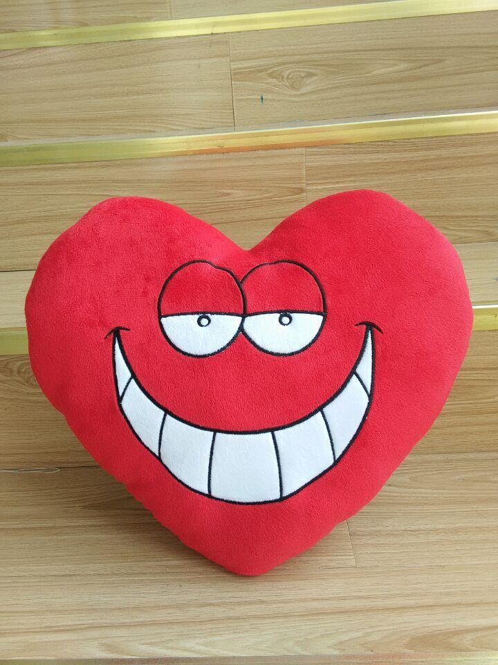 Ecológico Forma Redonda Corazones Felpa Emoji Almohada/amor En Forma ...