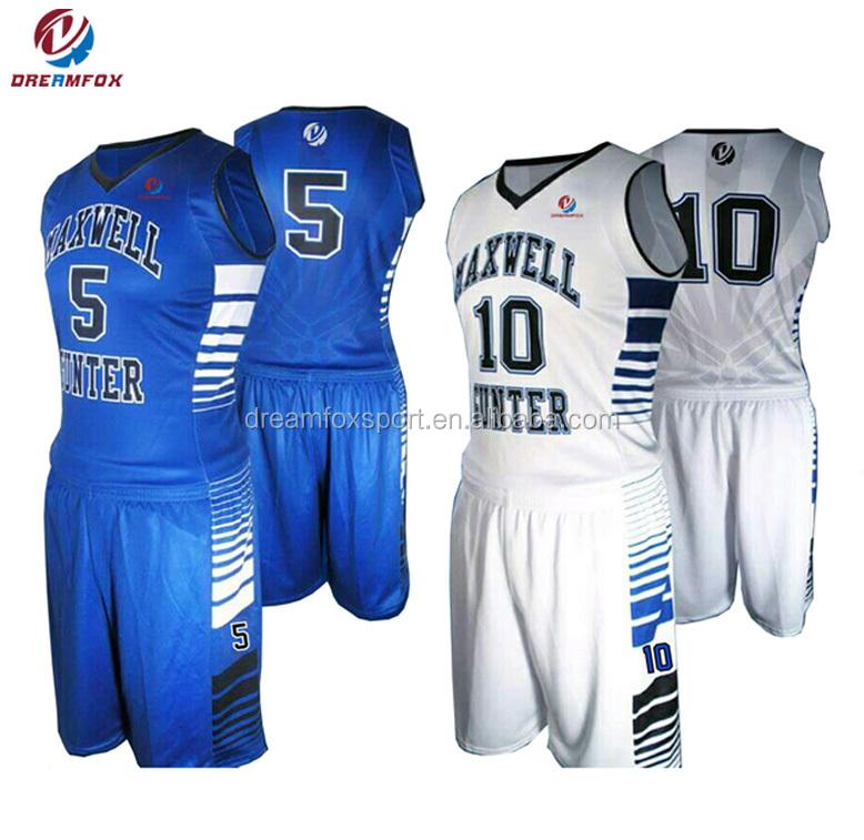d4fc5130445 best wholesale blank Sublimation latest reversible Custom Basketball Jerseys  design 2018