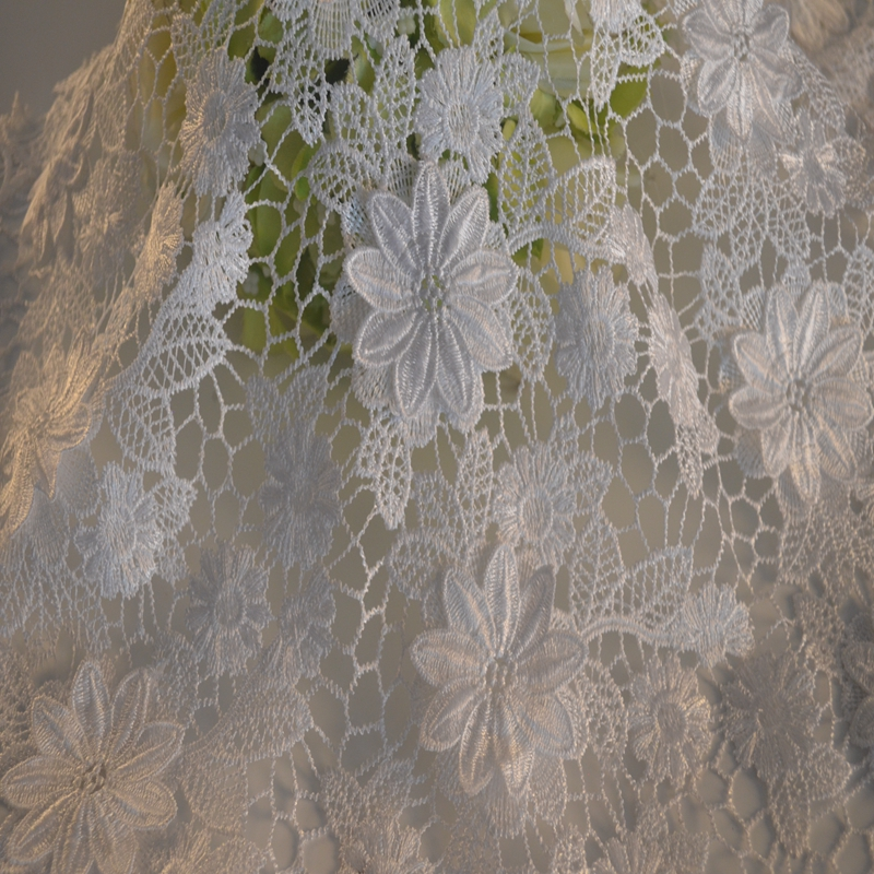 2020 Professional supplier custom delicate embroidery lace fabric/water soluble african chemical lace