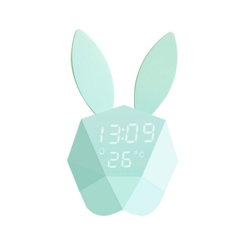 Lovely Voice control Decorative Wall Clock Bunny Rabbit Alarm Clock