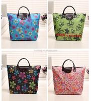 Foldable customized mini cheap beach bag shopping bag tote picnic outdoor folding bag