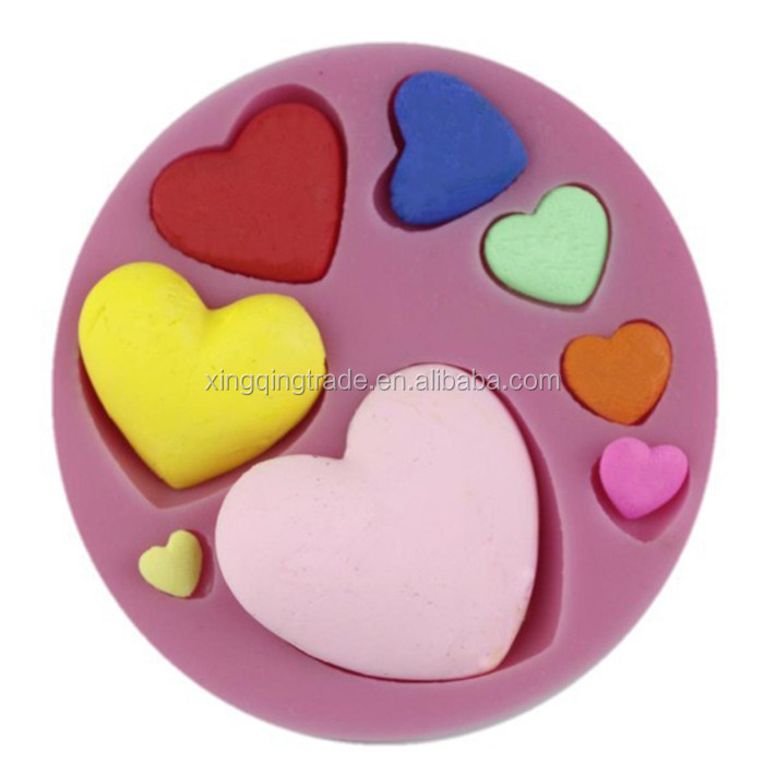 8 different Size 3D Love Heart Cake Mold sugar craft tools silicone fondant mold Wedding Cake