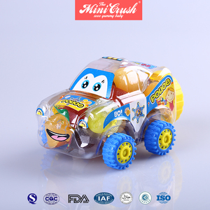 New candy toys assorted fruit jelly in racing car