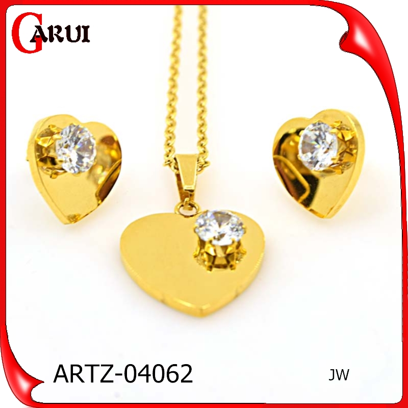 Neckless plated gold jewelry sets Accessories for women jewelry set