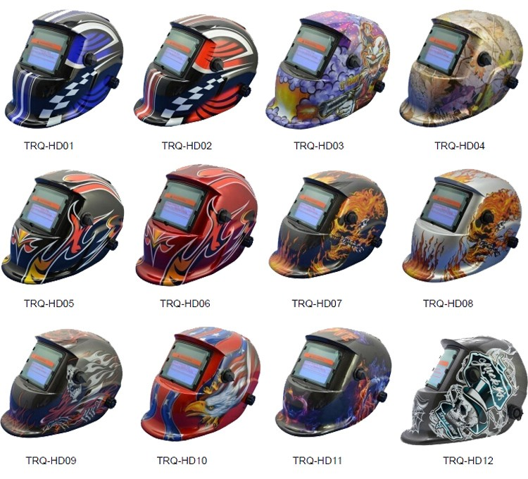 Ce Welding Helmet Solar Cell Head Protection Power Welding Helmet