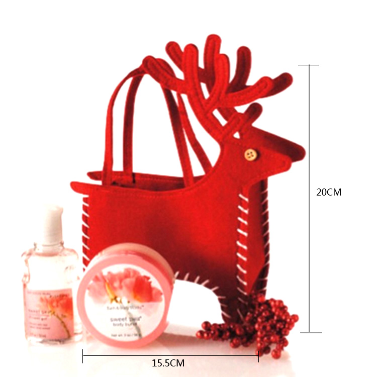Christmas Decoration Creative Home Party Christmas Deer Bag Souvenir Candy Makeup Bag Christmas Supplies Candy Bags
