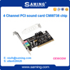 Factory direct sale cmi8738 mini pci 4channel sound card/audio adapter with driver