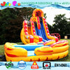 20ft tall dual lane giant inflatable water slide for adults,inflatable large slide ice and fire