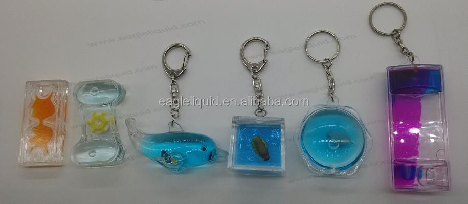 Cute Fish Sea World Floating Aqua Key Tag Keyring Clear Acrylic ...