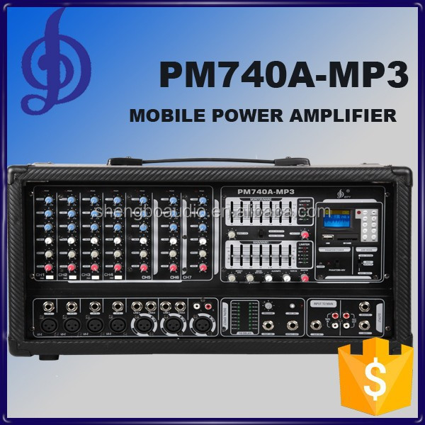 mobile power amplifier with MP3 PM740A-MP3