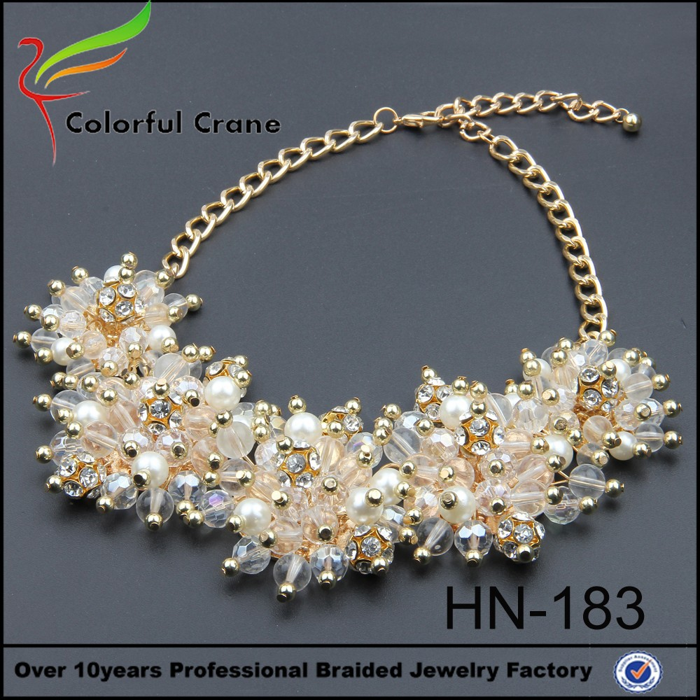 hot sell bold dried flower necklace jewelry