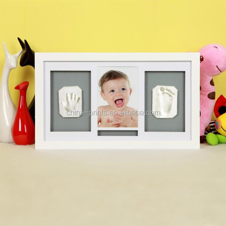 Nette Diy Holz Baby Bilderrahmen Handprint Und Footprint Rahmen ...