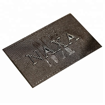 Custom Private Design Embedded Metal Brand Name Leather Patch Label for Jeans