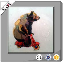 Top grade hotsale canvas oil bear animal painting