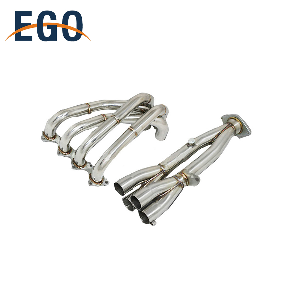 Stainless Steel Flexible Exhaust Pipe Manifold B Series Headers for 94-01 GSR Type R 1.8L For Integra