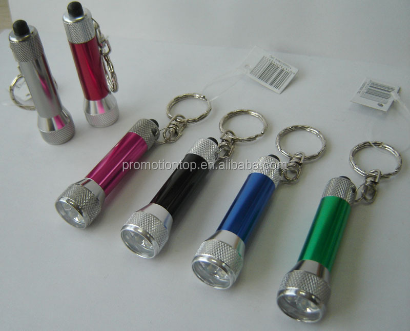 Aluminum metal led keychain light with carabiner