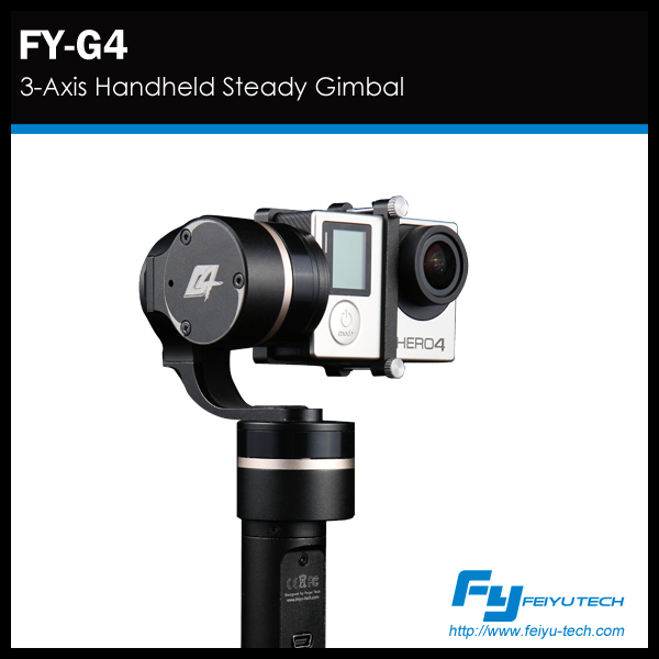 3 axis gimbal handheld gimble feiyu G4 camera stabilizer for gopro