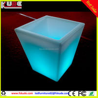 LED Light up small plastic square flower pot for sale
