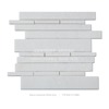 good choice for wall decoration design bush hammered pure white marble mosaic