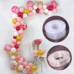 5M Balloon Arch Decor Strip Connect Chain Transparent Plastic DIY Tape Party Supplies for Wedding Birthday Hen Party BA009