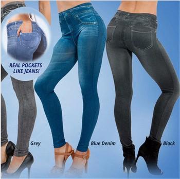 New Design Ladies Jeans Leggings 3 Pcs Per Set In Stock