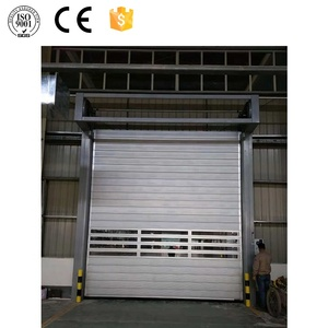 China Factory Luxurious Spiral Sliding Roller Door Attach With Window