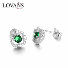 925 Sterling Silver Clear CZ Crystal Earring Single Diamond Earring SEG772W