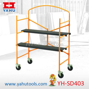 Metal 4 feet Rolling scaffold screw jack with 226kg load Capacity