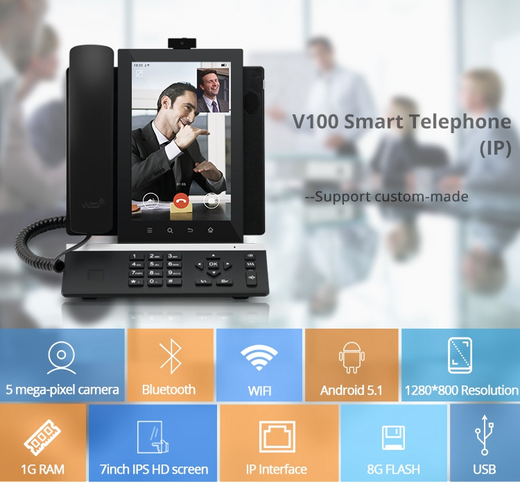 Factory Price Smart SIP Business Desktop IP HD Video Phone With