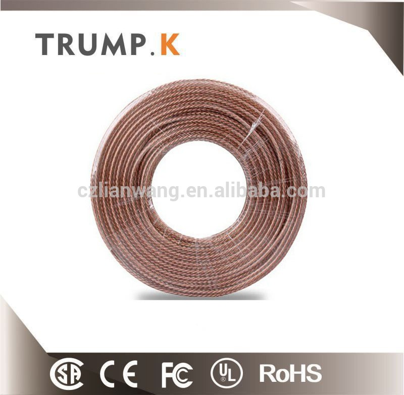 Transparent Pure Copper 12awg Speaker Wire Pvc Insulated Best ...
