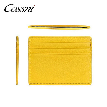 Promotion Durable Wallet Slim Money Clip Credit Card Holder ID Business  Mens   Womens Genuine Leather 5b8a7f5a1