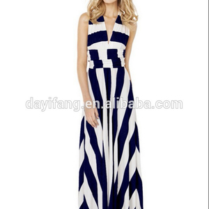 Off-shoulder Draggle-tail Dress Multi-Way Wearing Backless Prom Chevron Maxi Dress