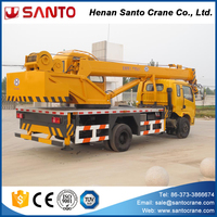 Telescopic boom dongfeng truck crane 8t for sale