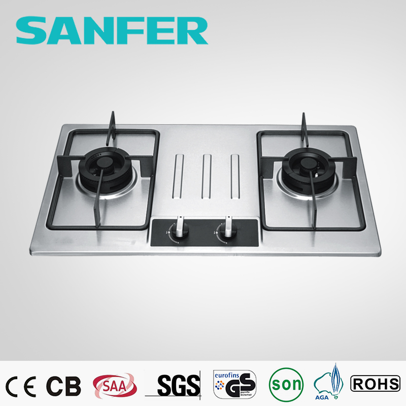 Glass plus stainless steel LPG free standing gas stove high pressure
