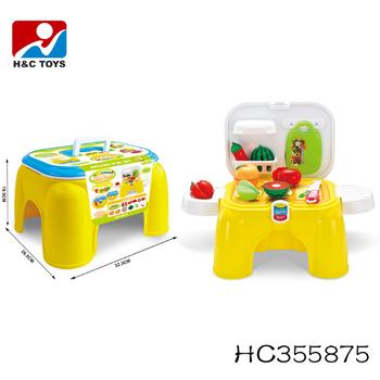 Multifunction Storage Toy Chair Plastic Childs Play Kitchen Toy Set HC355875