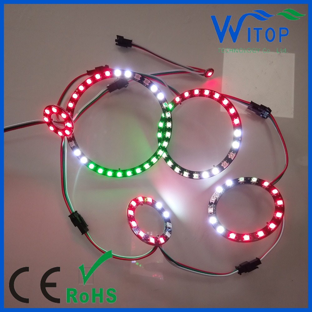 sK6812 RGB WS2812b 5050 LED Ring With Integrated Drivers Circular Light