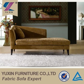 Antique Velvet Chaise Lounge Sofa Chairs For Bedroom