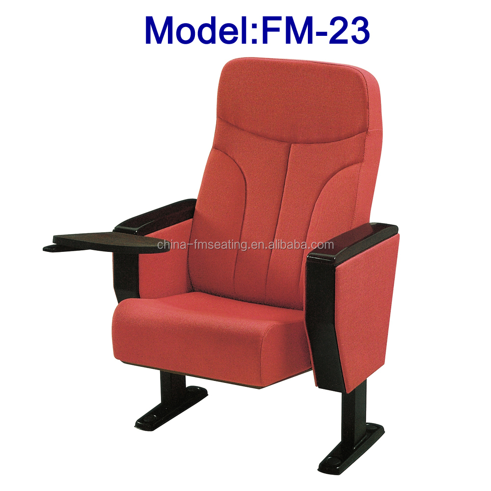 Comfortable auditorium folding seat with writing pad FM-23