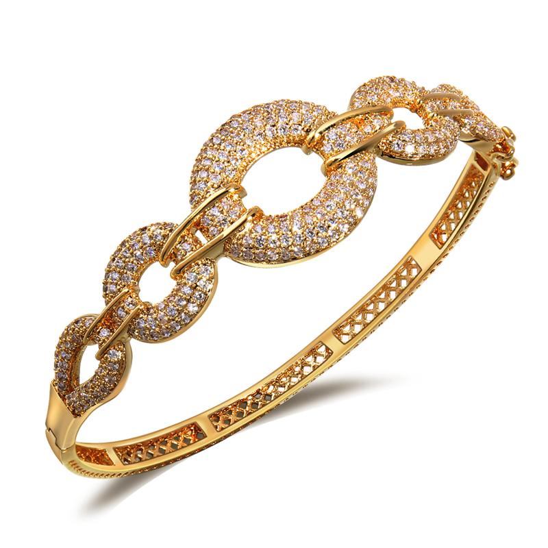 2015 latest bridal jewelry bangle 18k gold bracelet ...
